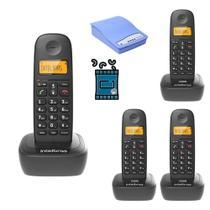 Kit Telefone TS 2510 Intelbras 3 Ramal Bina interface Chip -