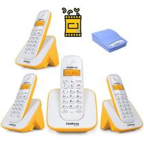 Kit Telefone TS 3110 Intelbras 3 Ramal Bina interface Chip -