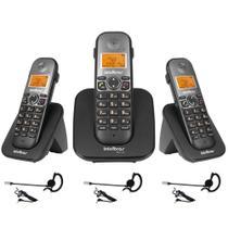 Kit Telefone TS 5120 + 2 Ramal TS 5121 + 3 Headset Intelbras -