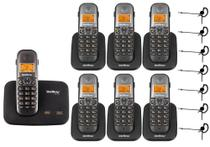 Kit Telefone TS 5150 + 6 Ramal TS 5121 + 7 Headset Intelbras -
