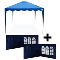 Kit Tenda Gazebo 3x3 Mts + 4 Paredes Laterais Dobravel Articulada  Bel