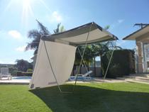 Kit Tenda Gazebo Riviera Camping Praia 2,3x2,3m + 1 Lateral - Zaka -