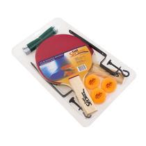 Kit Tenis De Mesa 2 Raquetes 3 Bolinhas Suporte E Rede Bel -