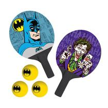 Kit Tênis De Mesa Bel Sports Batman 2 Raquetes 3 Bolas