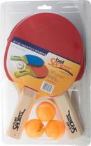 Kit Tenis de Mesa com 2 Raquetes 3 Bolinhas Belfix -