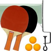 Kit Tênis de Mesa Ping Pong com 2 Raquetes, 3 Bolinhas e 1 Rede - Ref: ZF2921 - Art Sports