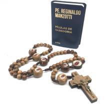 Kit Terço Oficial Padre Reginaldo Manzotti + Livro Pilulas De Sabedoria - Armazém Católico
