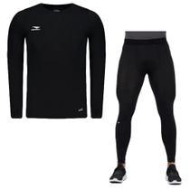 Kit Térmico Penalty Camisa Matís + Calça Flat Masculino -