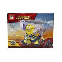 Kit Thanos Vingadores Blocos de Montar Armadura Boneco Big Figure SY1184-B -