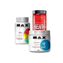 Kit Therma Pro 60 Caps, Multimax 90 Caps, L-Glutamina 300G - Max Titanium
