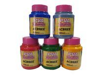 Kit Tinta PVA Acrilex Fosca 100ml - 12 Cores -