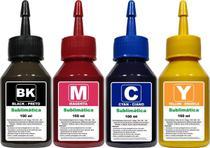 Kit Tinta Sublimática 400ml Compatível Epson L120 L220 L380 L395 L355 - Bm Chemical