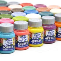 Kit Tintas para Tecido Acrilex: 36 Cores -