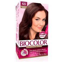 Kit Tintura Creme Biocolor Acaju Escuro Poderoso 4.5 -
