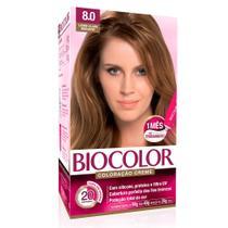 Kit Tintura Creme Biocolor Louro Claro Radiante 8.0 -