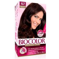 Kit Tintura Creme Biocolor Marrom Natural Irresistível 6.7 -