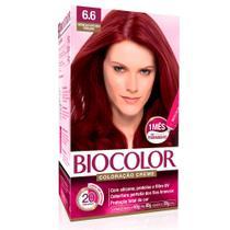 Kit Tintura Creme Biocolor Vermelho Intenso Vibrante 6.6 -