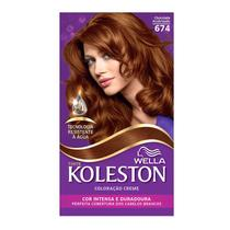 Kit Tintura Koleston Chocolate Acobreado 674