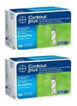Kit Tiras Contour Plus 100 Unidades Bayer ( 2 Caixas ) -