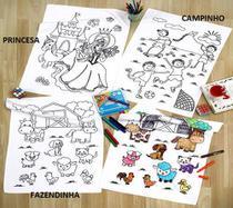 Kit Toalha de veludo para Colorir com Canetinhas Buettner -