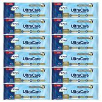 kit Toalha umedecida tena ultracare resistente para banho de leito limpa e hidrata 12pct 480 toalhas -
