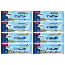 kit Toalha umedecida tena ultracare resistente para banho de leito limpa e hidrata 8pct 320 toalhas -