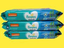 Kit toalhinha toalha lenço Pampers Splash 3 pacotes 144 unid -