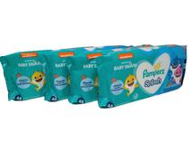 Kit toalhinha toalha lenço Pampers Splash 4 pacotes 192 unid -