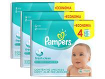 Kit Toalhinhas Umedecidas Pampers Fresh Clean 576 lenços -