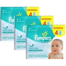 Kit Toalhinhas Umedecidas Pampers Fresh Clean c/ 576 un. -