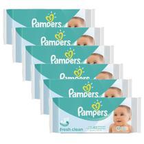 Kit Toalhinhas Umedecidas Pampers Fresh Clean com 48un -