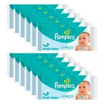 Kit Toalhinhas Umedecidas Pampers Fresh Clean com 576 Unidades -
