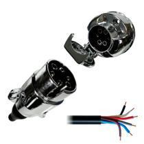 Kit Tomada Elétrica para Engate 6 Polos + Cabo PP - DNI 8369 -