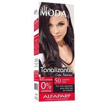 Kit Tonalizante Alfaparf Alta Moda Castanho Claro 50 -