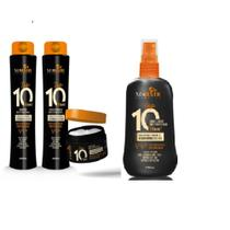 Kit top 10  shampoo - condicionador - máscara- finalizador  multifuncional proteção térmica mahair -