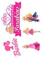 Kit Topper de Bolo Barbie - Brilhante