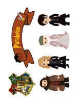Kit Topper de Bolo Harry Potter - Brilhante