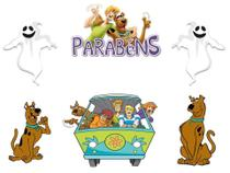 Kit Topper de Bolo Scooby-Doo - Brilhante