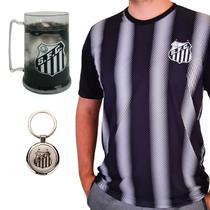 Kit Torcedor Santos - Camisa + Caneca + Chaveiro Oficial -