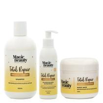 Kit Total Repair Magic Beauty - Shampoo + Condicionador + Leave-in -