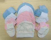Kit touca luva e sapatinho malha 100% Algodão Branco - Angel Baby