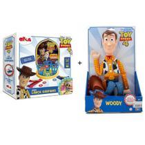 Kit Toy Story Boneco Woody + Jogo Lança Garfinho - Toyng