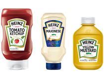 Kit Tradicional Heinz 03 Unidades Ketchup - 397g + Maionese 215g + Mostarda Amarela 255g