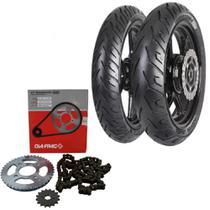 Kit Transmissão +  Par Pneu Cb 300r 140/70-17 + 110/70-17 Sport Dragon - Pirelli e dia-frag