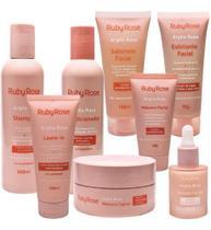 Kit Tratamento Argila Rosa Ruby Rose Facial E Capilar -