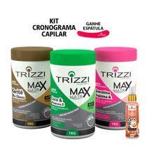 Kit Tratamento Cronograma Capilar Max Hair Trizzi - Hidratação - Nutrição e Reconstrução - Trizzi Cosmetics