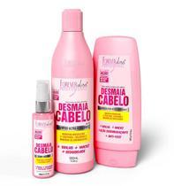 Kit Tratamento Desmaia Cabelo  Shampoo + Condicionador + Sérum  Forever Liss -
