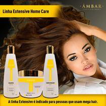 Kit Tratamento Mega Hair Apliques Linha Profissional 3 Itens - Âmbar Profissional