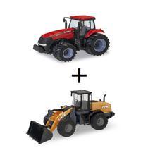 Kit trator pa carregadeira case construction  + trator magnun case agriculture -