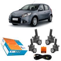 Kit Trava Elétrica Específica Tragial 4P Sandero até 2014 -